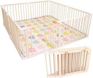parc pour bébé en bois